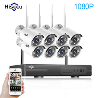 2MP Wireless CCTV System 1080P 8ch HD Wi Fi NVR Kit Outdoor IR Night Vision IP