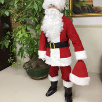 2017 red and green Santa suit of adult male high - grade clothing high-end Christmas clothes Santa Claus