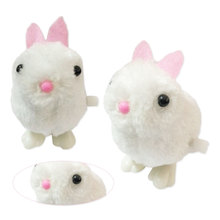 Soft Rabbit Jumping Bunny Doll Toys Wind Up Easter Chick Infant Child  Doll Toys Hopping Jumping Bunny Gift iwish halloween wind up green ghost goblin zombies jump vampire winding walking frankenstein jumping kids toys all saints day