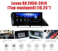 Car android radio for LEXUS RX450h RX270 RX350 with 12.25inch screen 1280*480 resolution 2G RAM 16GROM 8 cores free gps map