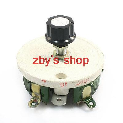 Single Turn Resistor 100W 10 Ohm Adjustable Taper Ceramic Disk Rheostat