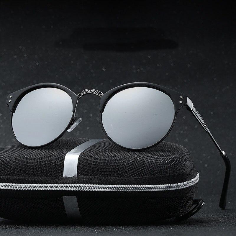 Steampunk Goggles Men Round Sunglasses Polarized Women Carter Lunette Sun Glasses Luxury Brand Women Driver Eyeglasses
