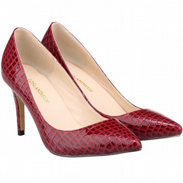 Chaussures Rouges De Bureau De Bureau Pour Les Femmes lvy3ST