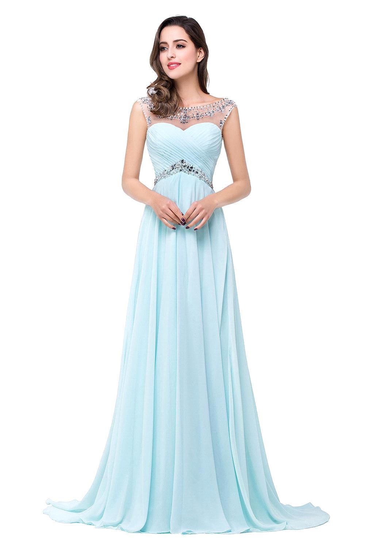 Teal chiffon prom dresses - Dress on sale