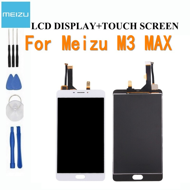 Hight quality 3 times testes New LCD Display +Digitizer Touch Screen Glass Replacement Parts For Meizu Meilan Max Meizu M3 Max-in Mobile Phone LCD Screens from Cellphones & Telecommunications