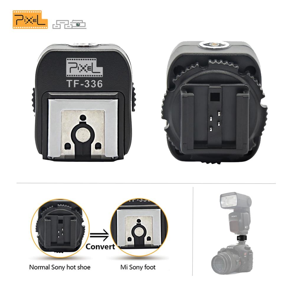 Pixel TF-336 TTL Hot Shoe Adaptateur Convertisseur avec PC Port Convertering pour Sony Normale Hotshoe Caméra à Utiliser Nouveau Mi Hotshoe Flash