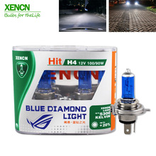 XENCN H4 12V 100/90W 5300K Xenon Blue Diamond Car Light High Power UV Filter Halogen Super White car light for yaris pajero