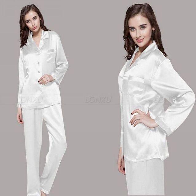 Womens Silk Satin Pajamas Set  Pajama Pyjamas  Set  Sleepwear  Loungewear  S,M, L, XL, 2XL, 3XL  Plus Solid__Fit  All Seasons