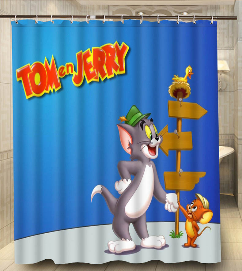 Tom And Jerry Shake Hands Cartoon Print