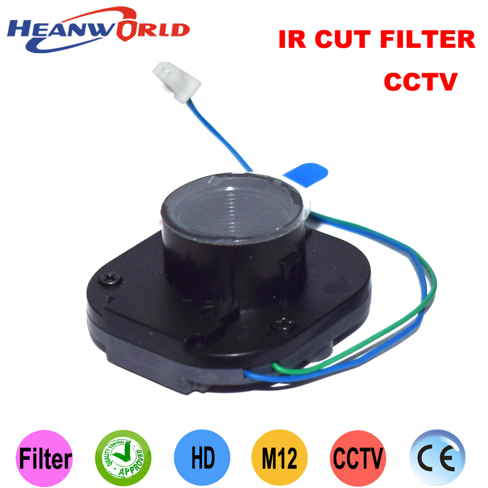 Heanworld Good quality MP megapixel HD IR cut filter IR-CUT for CCTV/IP/AHD camera filter dual filter IR CUT M12 lens holder 1 25 inch uv ir cut telescope filter block infra red ccd camera interference uv filter nebula filter for telescopio astronomic