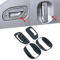 For Nissan NV200 Evalia 2010 2018 New Chrome Side Door Handle Cover Bowl Trim Sticker Car Accessories