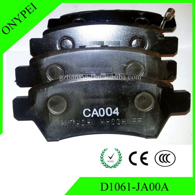 High Quality D1061 JA00A Front Brake Pads For NISSAN ALTIMA 2007 2008 2009  2010 Part