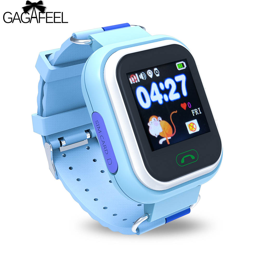 GAGAFEEL GPS Kids Smart Watch for Android IOS SOS Tracker Smart Clock for Children Sport Wristwatch s866 smart watch with sos gps lbs wifi wechat children tracker gsm sim smart mobile phone wristwatch for kids for ios android
