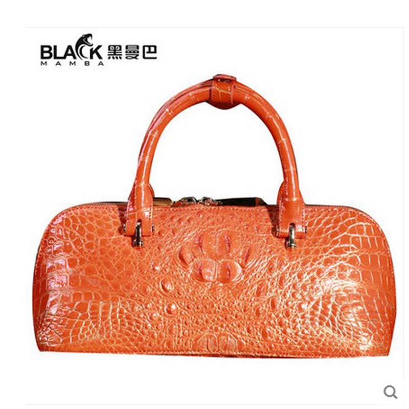 heimanba crocodile leather women bag female shell package lady bag Europe and the United States simple hand bag crocodile leath europe and the united states simple geometric pattern hand bag head layer of leather in the long wallet multi card large capacit