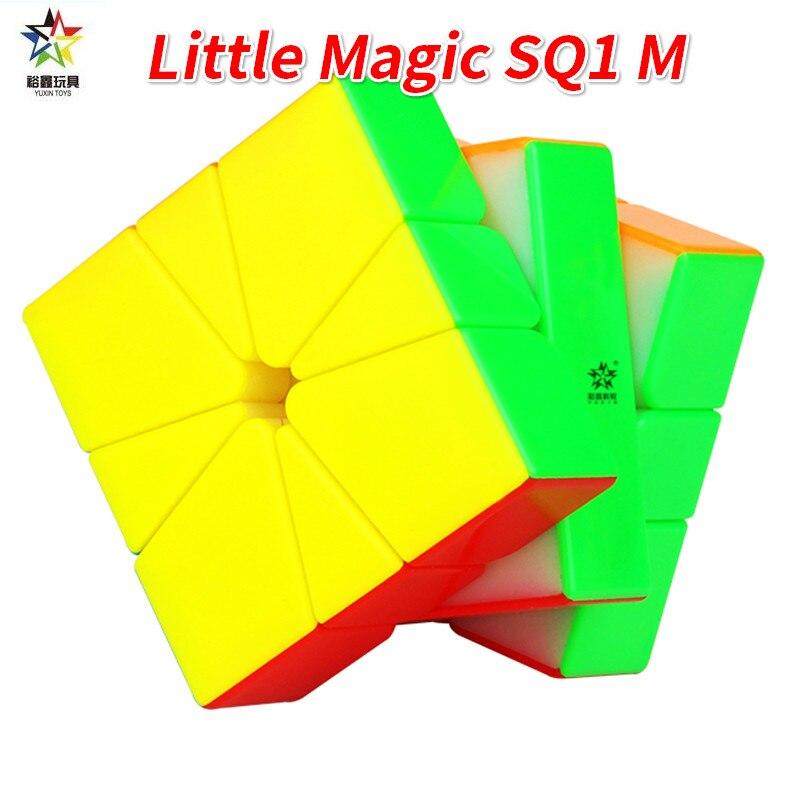 Yuxin Pouco de Magia SQ-1 Estranha Forma de Cubo Magico Raciocínio SQ1 Square-1 Magnético Cubo Mágico Brinquedos Educativos para Crianças Praça 1