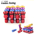 AMK racing-ALUMINUM VALVE STEM CAPS WHEELS 4pcs RAYS VOLK RACING FORGED WHEELS RIMS Blue Silver Black Golden Red Black