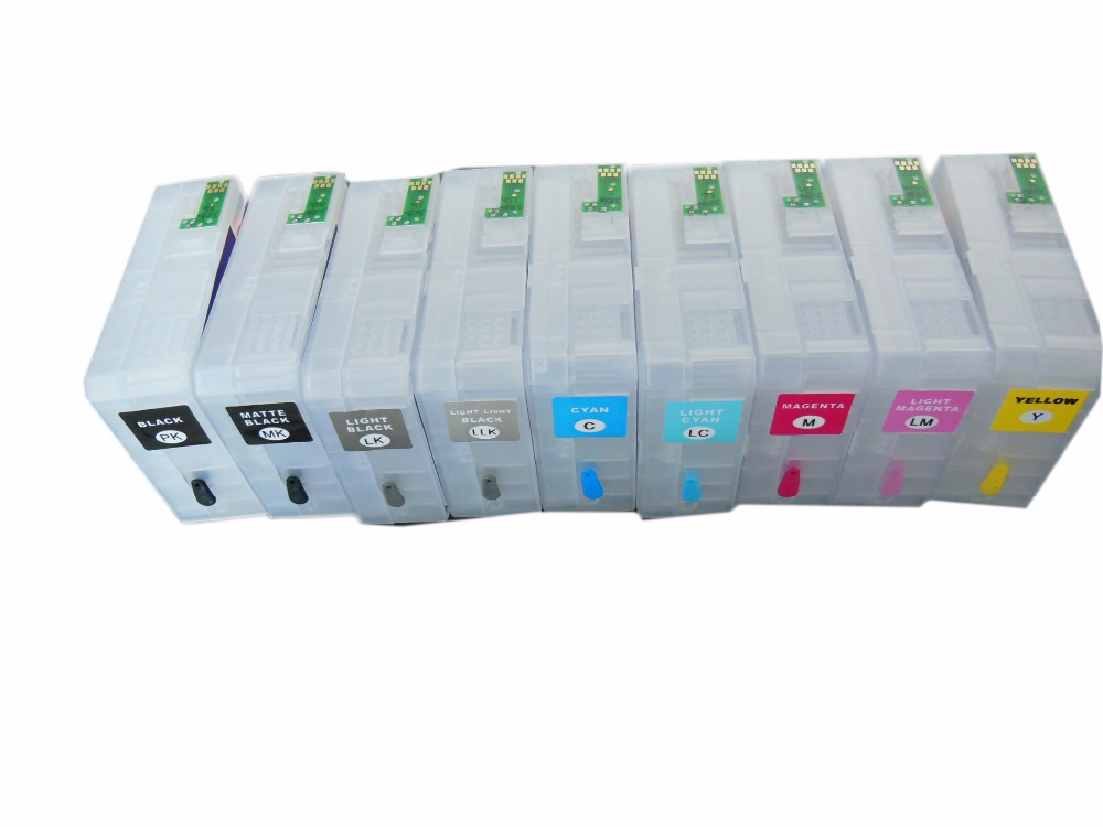T5801 T5802 T5803 T5804 T5805 T5806 T5807 T5808 T5809 Empty  Refillable ink cartridge For Epson Stylus pro 3800 Printer