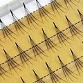 1 Set 100% Handmade 0.07 C Black Individual Natural Long False Eye Lashes 4D Wave Mink Eyelashes Extension Tools