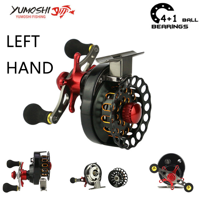 Lieyuwang 4+1BB 3.5:1 Aluminum alloy wheel Fly Fishing reel Carp Feeder fishing reels (left hand)(China)