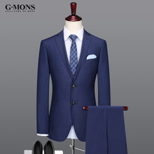 mens suits 62% wool high quality material business men suit casual man royal blue slim spring autumn summer mans groom wedding