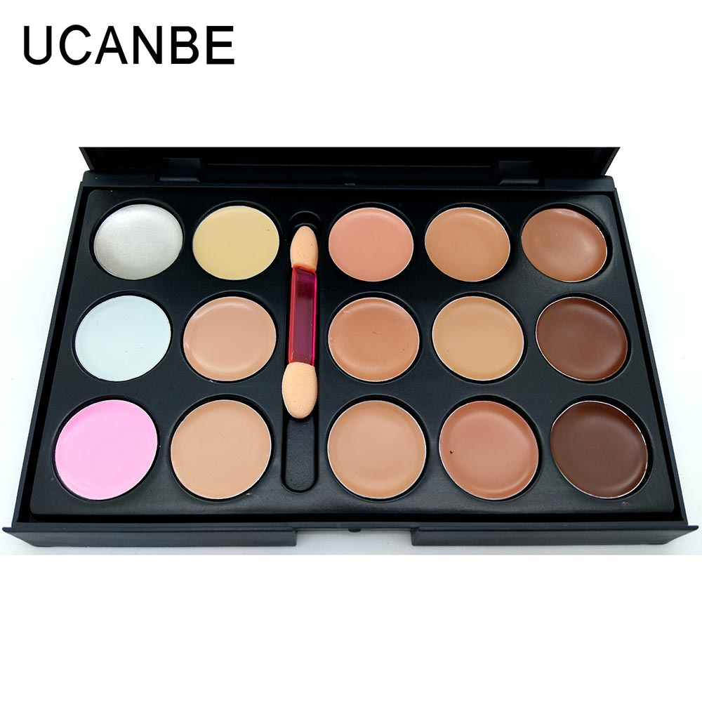 Ucanbe Brand Professional 15 Color Concealer Palette With Brush Contour Palette Face Cream Care