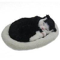 Emulation Schlafatem Katzenspielzeug Pet mit Woolen Bett schwarz (Kitty Katze)