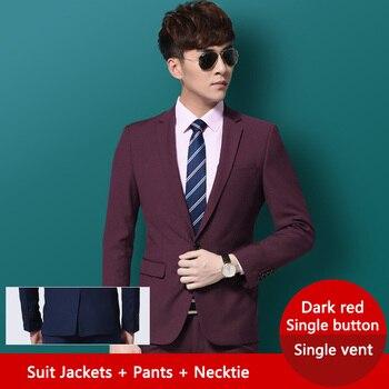 df7e2de308 Black Wedding Suits for Men Business Suit Slim fit Classic Male Suits  Blazers Luxury Suit Men Single Buttons 3 Pieces