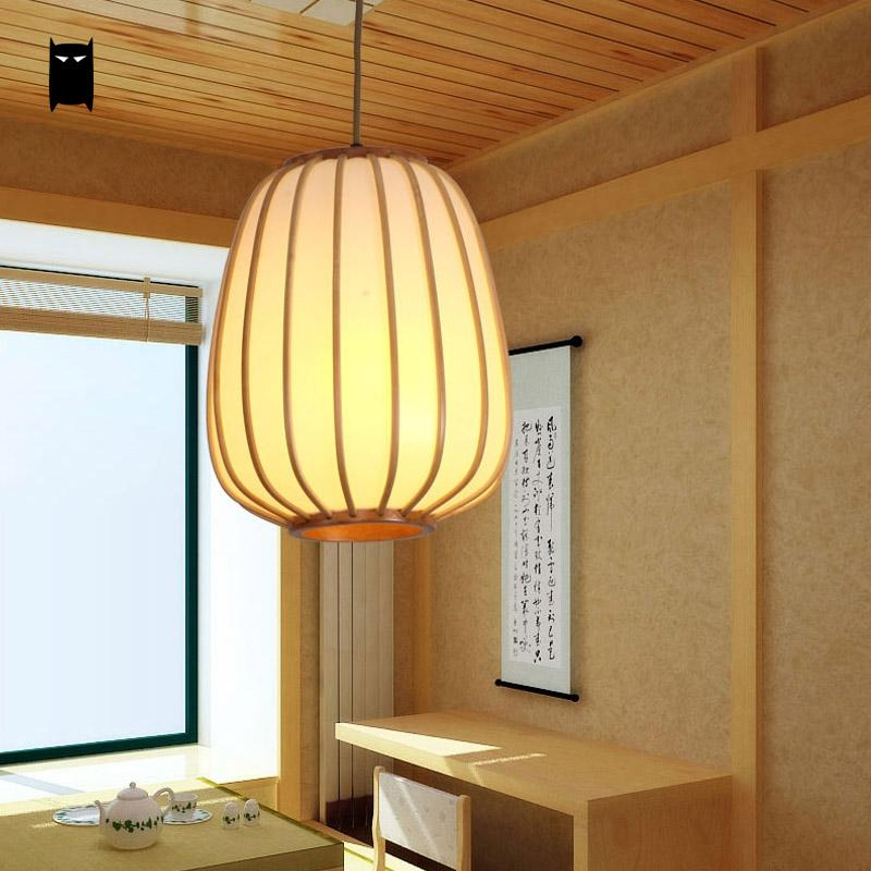 Abat Jour Design.Us 156 0 Bamboo Pvc Lantern Lampshade Pendant Light Fixture Modern Scandinave Chinese Japanese Style Tatami Hanging Lamp Abat Jour Design In Pendant