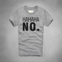 Farmous Brand Free Style Print Letter Hahaha No T Shirt Casual Cool Funny T Shirt Personalized