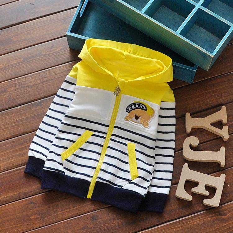 New-Spring-Children-Baby-Boys-Infant-Sweatshirts-Cartoon-bear-stripes-Patchwork-Coats-Hoodies-cardigan-Y1302-1