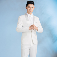 New Brand Suit white and black Set drill Men Stage Singer Wear 2 Pieces Set Slim Fit Wedding Tuxedo Costume Homme(Jacket+pants)