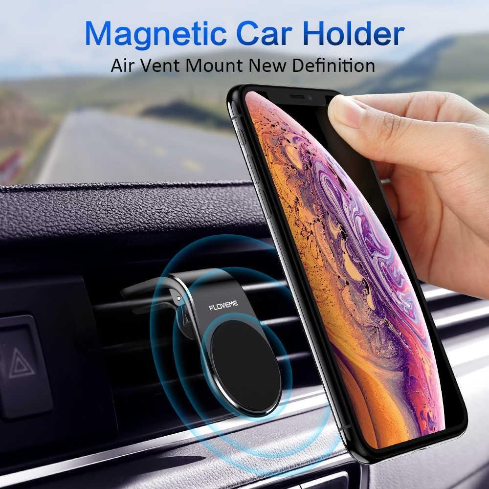 Floveme Metalen Magnetische Auto Telefoon Houder Mini Air Vent Clip Mount Magneet Mobiele Telefoon Houder Voor Telefoon In Auto Suporte celular