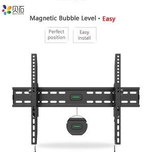 Image 4 - Наклонный настенный кронштейн для телевизора, подставка для ЖК монитора 32 65 дюймов, плоский экран, ТВ s с VESA до 400*600 мм, грузоподъемность 88 фунтов