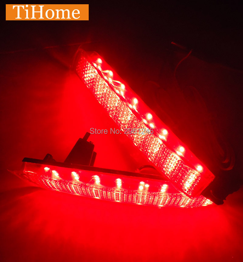 Hot selling  Free Shipping LED Rear Bumper Reflector Lights Tail Brake Lights For Infiniti QX70