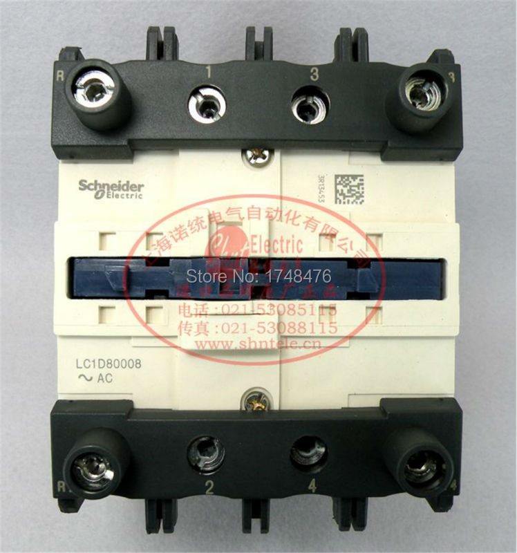 ФОТО TeSys D Contactor 4P 125A LC1D80008 LC1D80008N7  LC1-D80008N7 415V AC