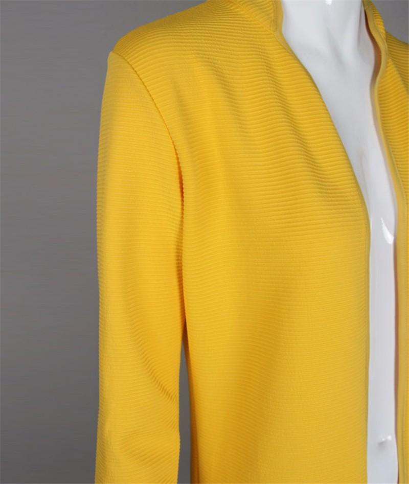 New  Autumn Winter Fashion Women Long Sleeve loose knitting sweater Womens Knitted Female Thick Cardigan yellow WWB27 (4)