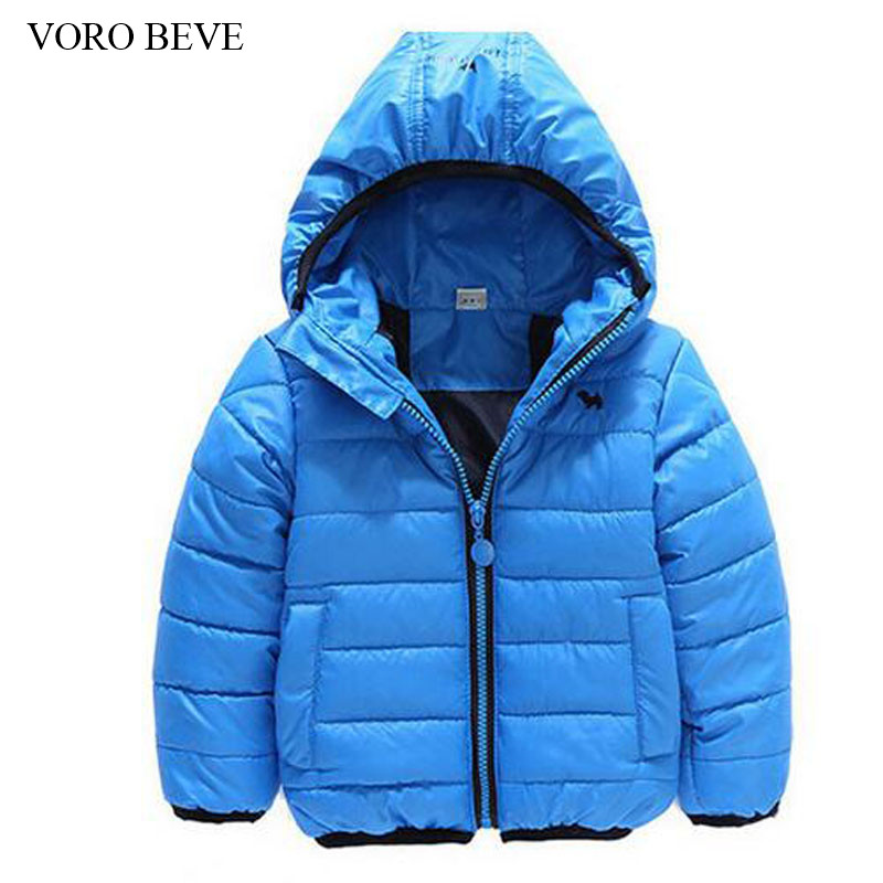 VORO BEVE 2017 winter fashion children's clothing outerwear cotton-padded coat kids jackets hooded baby boys clothes