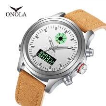 Relogio Masculino 2019 ONOLA высокого качества прочные мужские часы, светящиеся часы с светодиодный ночник на дисплее номера
