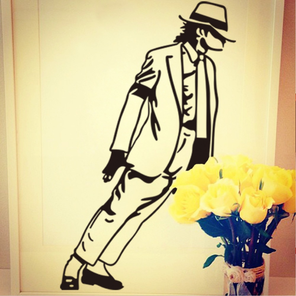Hot wall stickers King of Pop Michael Jackson music fans room ...