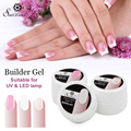 Saviland 1pcs UV LED Builder Gel Nail Polish Extension Pink White Clear UV Gel Permanent Strong False Tips Glue