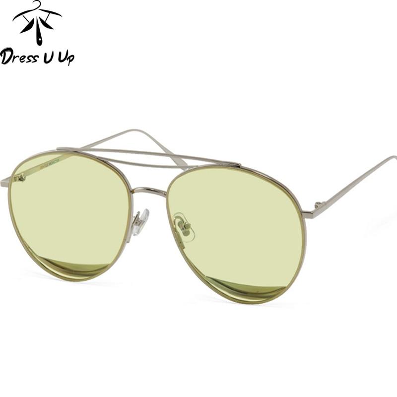 DRESSUUP New Rose Gold Pilot Sunglasses Women Brand Designer UV400 Gafas Vintage Sun Glasses Men Oculos De Sol Feminino Gafas