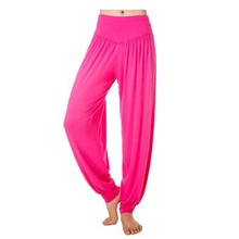 Yoga Pants Women Plus Size Colorful Dance Yoga TaiChi Full Length Loose Belly Dancing Pants Smooth No Shrink Antistatic