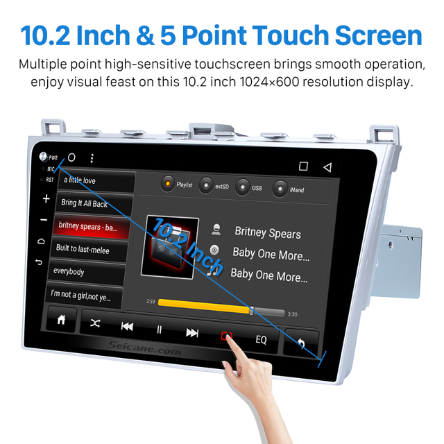 hd 1024*600 touchscreen for 2008 2015 mazda 6 android 6.0 radio gps