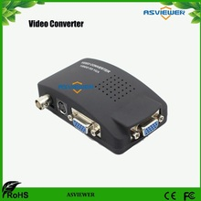 TV BNC AV / S S-video to VGA Converter TV Signal Adapter Converter S Video to VGA Switch Conversion Digital Box Support 1080P