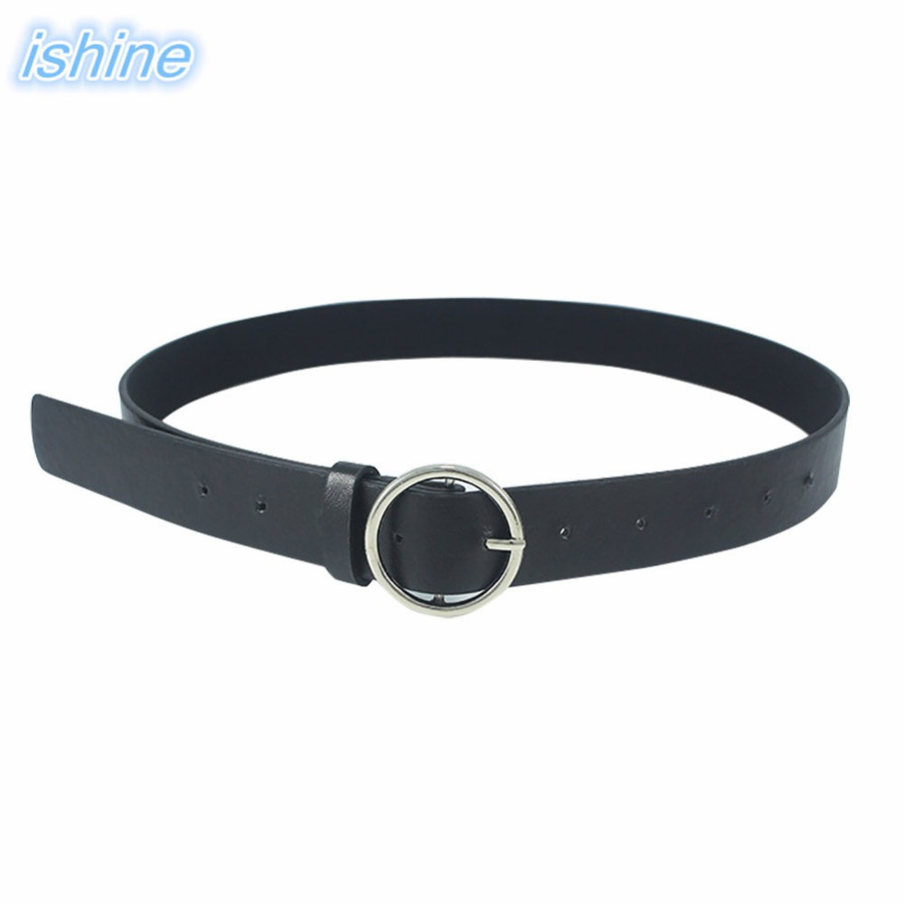 Hot Sale 105cm Design Women Waist   Belt   Lovely Women's Clothes Accessories   Belts   Female Fashion Gold Buckle PU Leather Strap