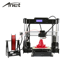 2017 high precision quality Anet A8 A6 3d printer Prusa i3 8GB SDcard express shipping Russian