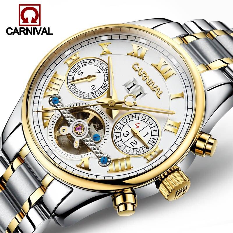 โครงกระดูกt ourbillonอัตโนมัตินาฬิกาเทศกาลยี่ห้อผู้ชายนาฬิกาวิศวกรรมกันน้ำนาฬิกาข้อมือบุรุษRelógio Masculinoไพลิน-ใน นาฬิกาข้อมือกลไก จาก นาฬิกาข้อมือ บน   2