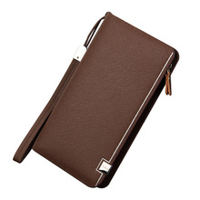 High Quality Men Wallets With Coin Pocket Long Zipper Purse For Clutch Business Male Wallet Double Large