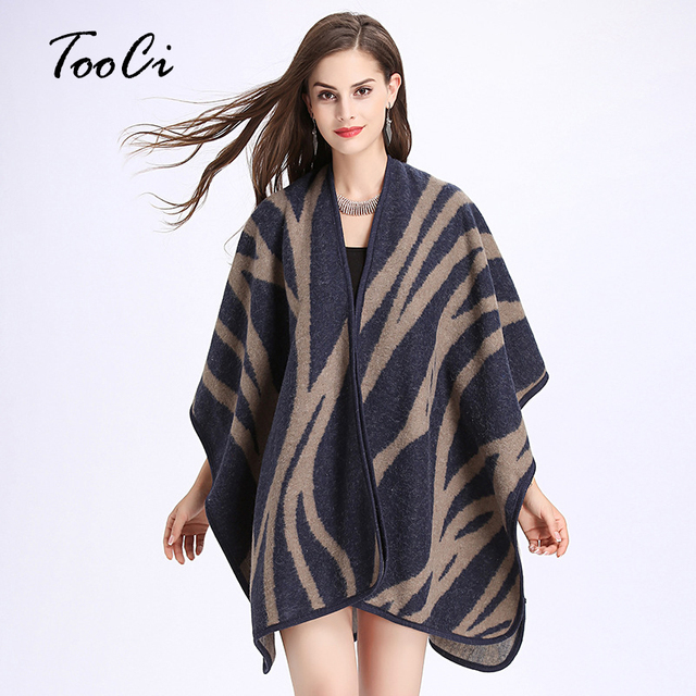 2017 Fashion Fall Women\'s Shawl Cloak Women\'s Lace Pattern Loose ...