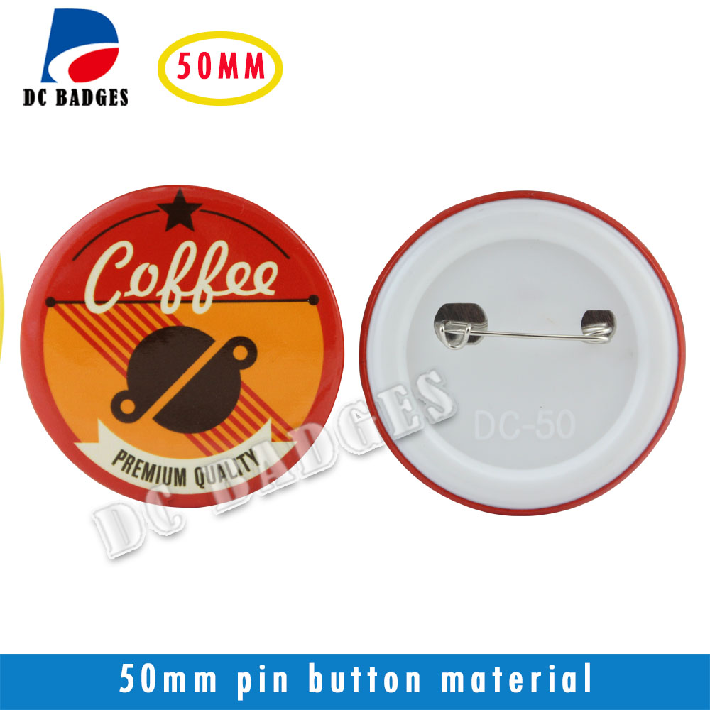 2(50mm) 500sets  Plastic Pinback Badge Button Material 2017 wholesale manufacturers 2 50mm 1000sets plastic pinback badge material